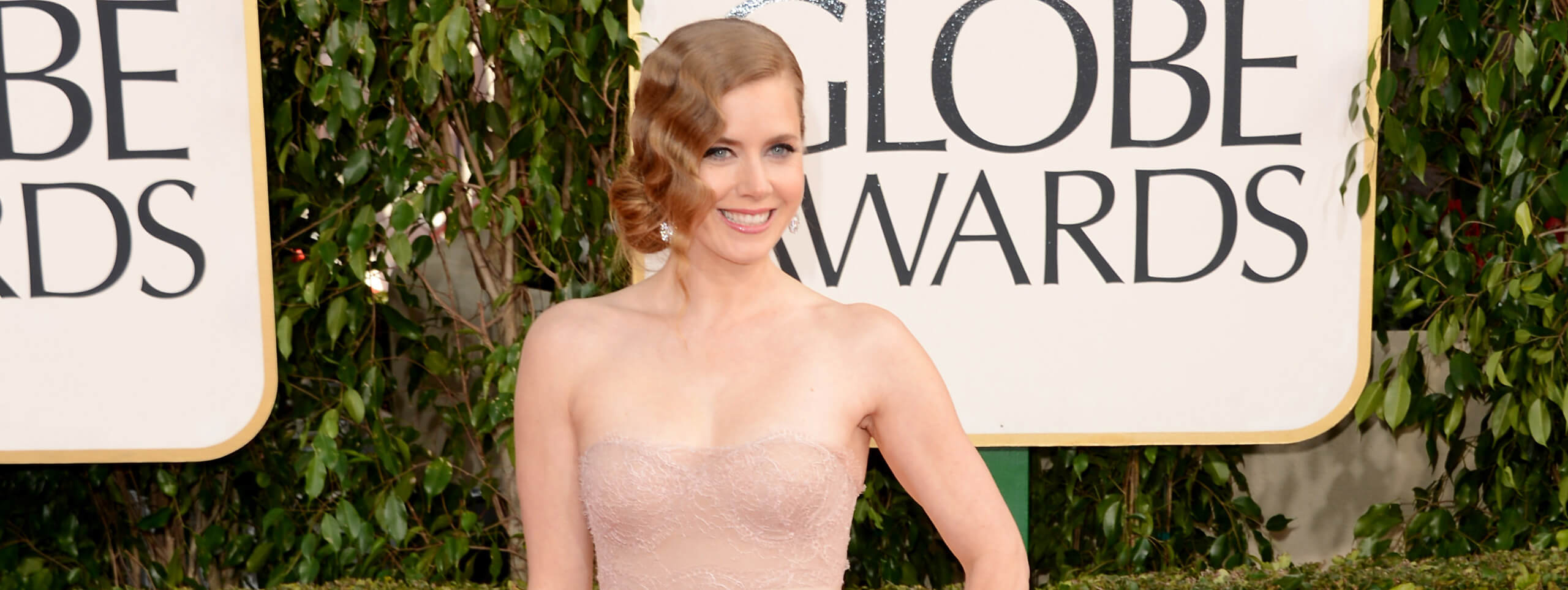Acconciatura water waves Amy Adams Golden Globes